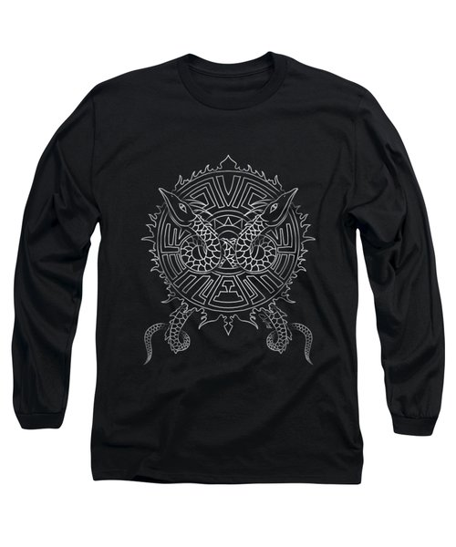 Dragon Shield Long Sleeve T-Shirt by Christopher Szilagyi