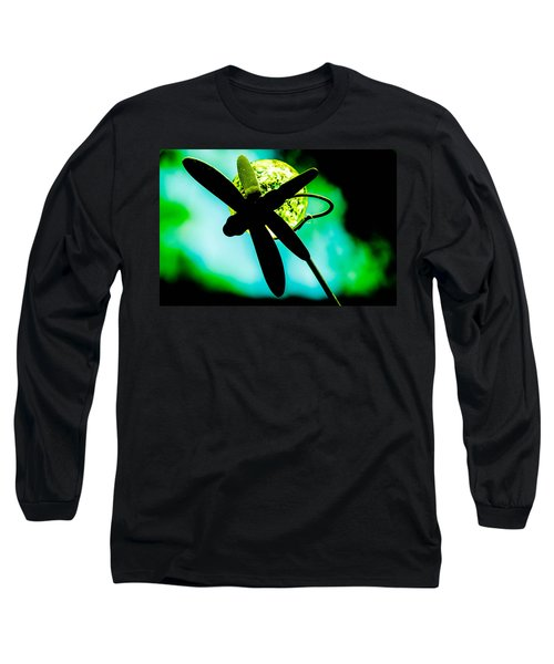 Dragonfly Crystal Long Sleeve T-Shirt by Bruce Pritchett