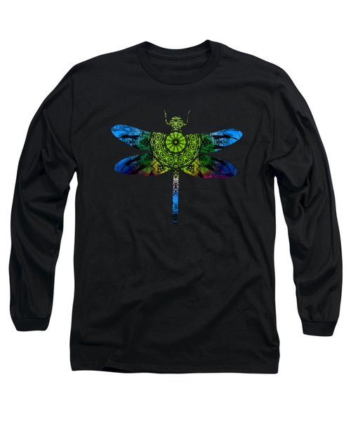 Dragonfly Kaleidoscope Long Sleeve T-Shirt