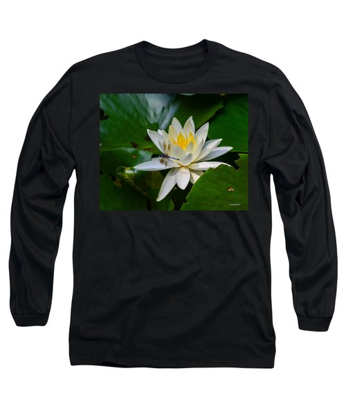 Dragonfly On Waterlily  Long Sleeve T-Shirt