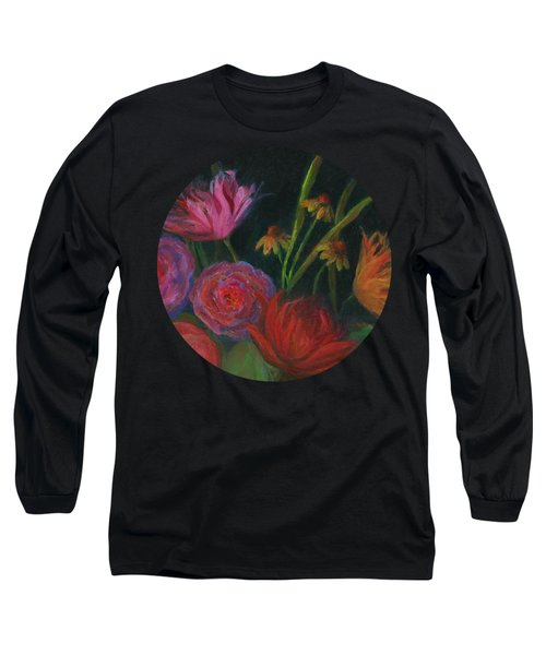 Dramatic Floral Still Life Painting Long Sleeve T-Shirt