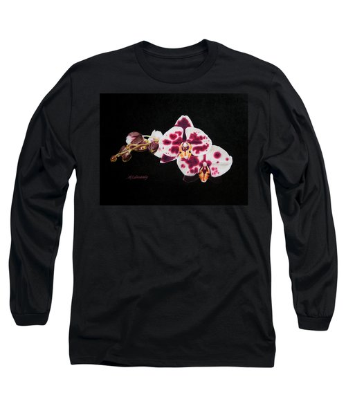 Drawing Of Polka Dot Moths Long Sleeve T-Shirt