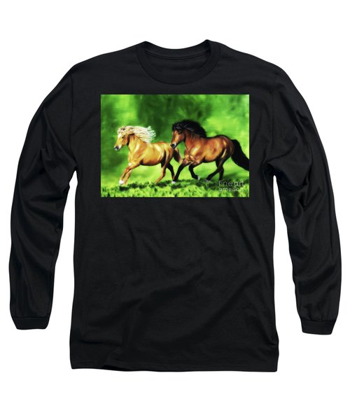 Long Sleeve T-Shirt featuring the painting Dream Team by Shari Nees