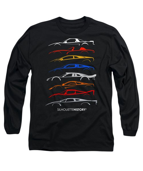 Dreamcars Of 90s Silhouettehistory Long Sleeve T-Shirt