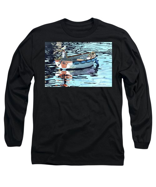Dreams Adrift, Fishing Boat, Boat Painting, Boat Print, Boat Art Long Sleeve T-Shirt