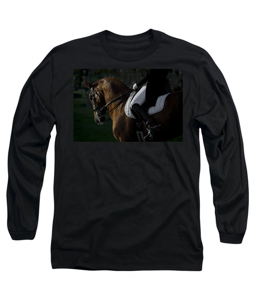 Long Sleeve T-Shirt featuring the photograph Dressage D5284 by Wes and Dotty Weber