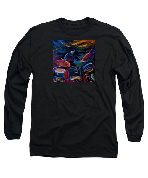Drummer Craze Long Sleeve T-Shirt