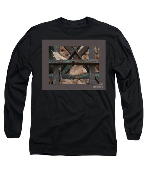 Dry Leaves And Old Steel-iii Long Sleeve T-Shirt by Patricia Overmoyer