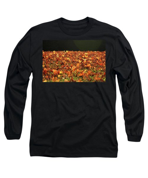 Long Sleeve T-Shirt featuring the photograph Dry Maple Leaves Covering The Ground by Emanuel Tanjala