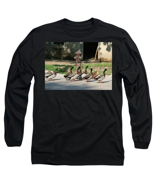 Duck And Hydrant Long Sleeve T-Shirt