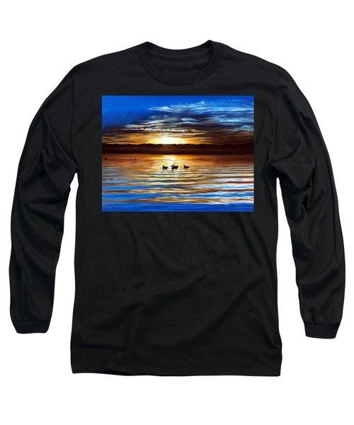 Ducks On Clear Lake Long Sleeve T-Shirt