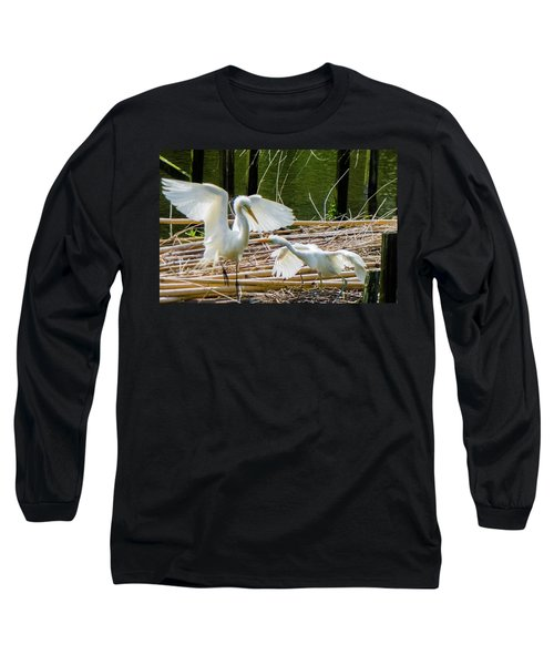 Dueling Bills Long Sleeve T-Shirt by Kimo Fernandez