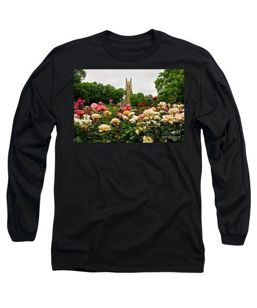 Duke Chapel And Roses Long Sleeve T-Shirt