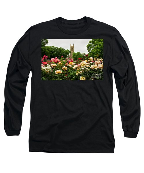 Duke Chapel And Roses Long Sleeve T-Shirt