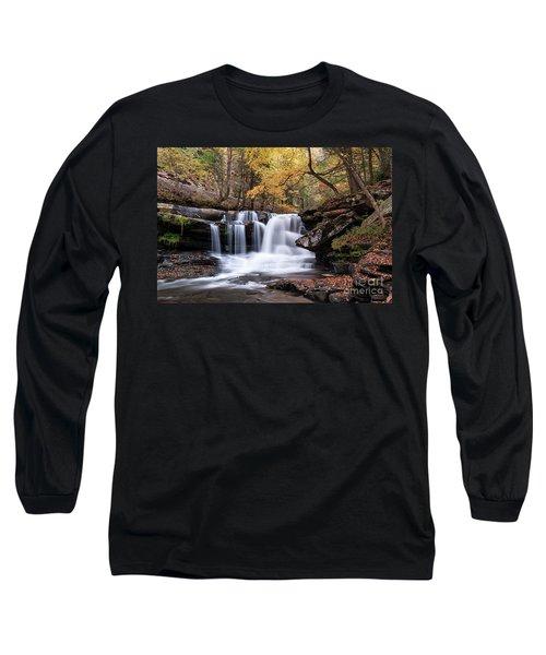 Long Sleeve T-Shirt featuring the photograph Dunloup Falls - D009961 by Daniel Dempster