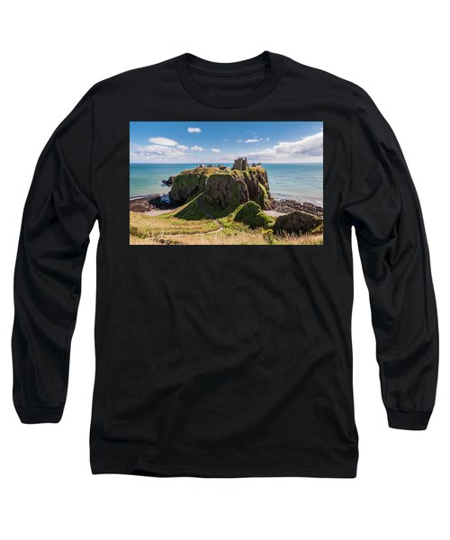 Dunnotar Castle Long Sleeve T-Shirt by Sergey Simanovsky