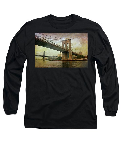 Dusk At The Bridge Long Sleeve T-Shirt by Diana Angstadt