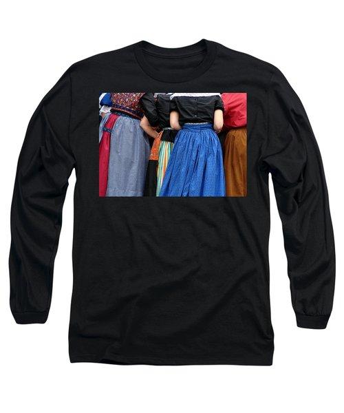 Dutch Dancers In A Huddle Long Sleeve T-Shirt