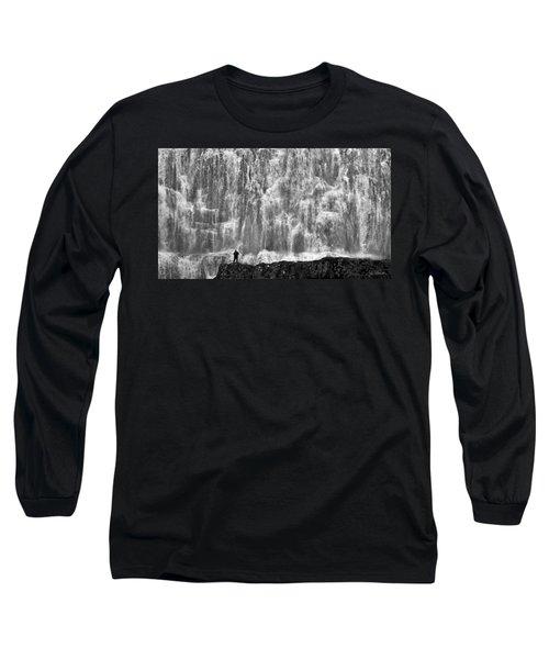 Long Sleeve T-Shirt featuring the photograph Dynjandi Daredevil No. 2 by Joe Bonita