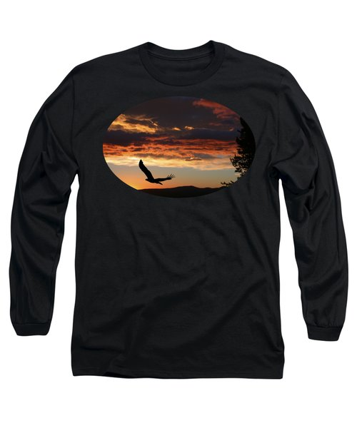 Eagle At Sunset Long Sleeve T-Shirt