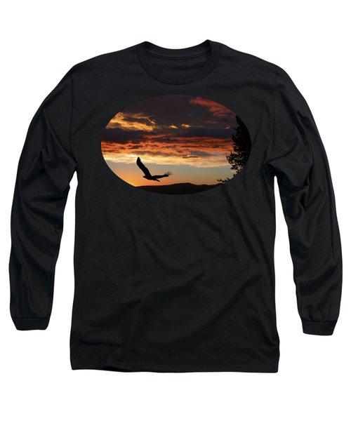 Eagle At Sunset Long Sleeve T-Shirt