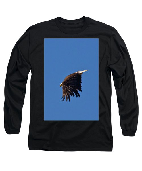 Long Sleeve T-Shirt featuring the photograph Eagle Dive by Linda Unger