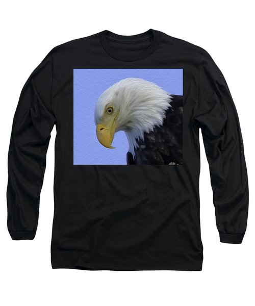 Eagle Head Paint Long Sleeve T-Shirt