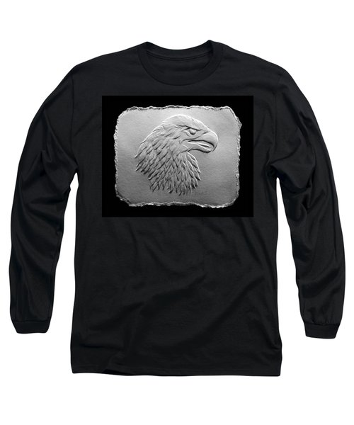 Eagle Head Relief Drawing Long Sleeve T-Shirt