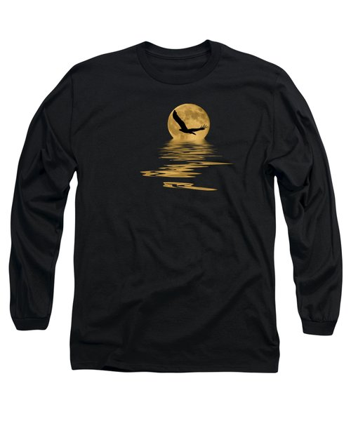 Eagle In The Moonlight Long Sleeve T-Shirt