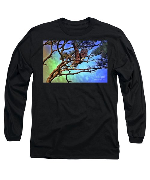 Long Sleeve T-Shirt featuring the painting Eagle Series 2 by Deborah Benoit