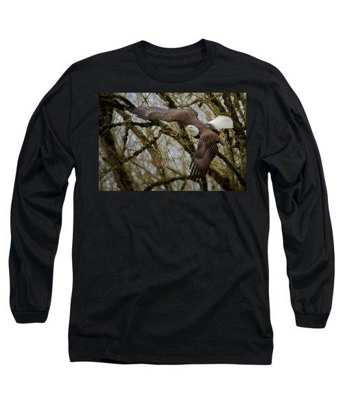 Eagle Take Off Long Sleeve T-Shirt
