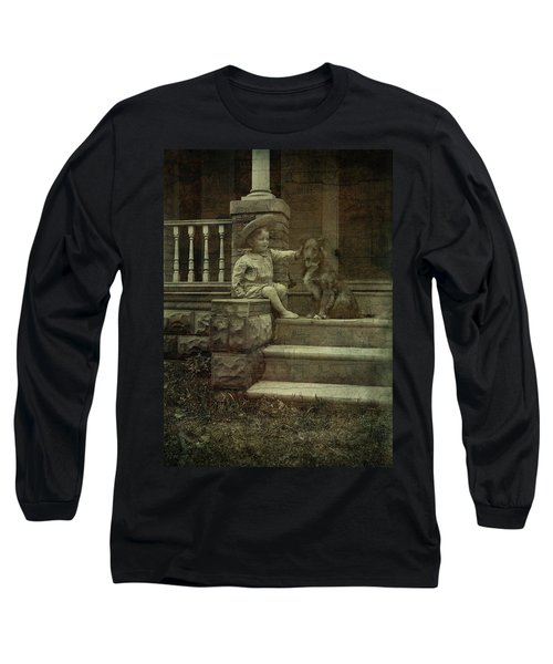 Ear Scratch And Straw Hat Long Sleeve T-Shirt