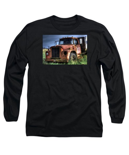 Long Sleeve T-Shirt featuring the photograph Earl Latsha Lumber Company Version 3 by Shelley Neff