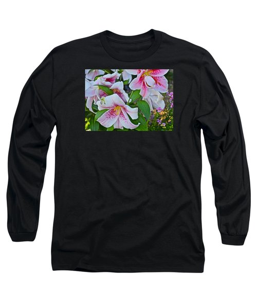 Early August Tumble Of Lilies Long Sleeve T-Shirt by Janis Nussbaum Senungetuk