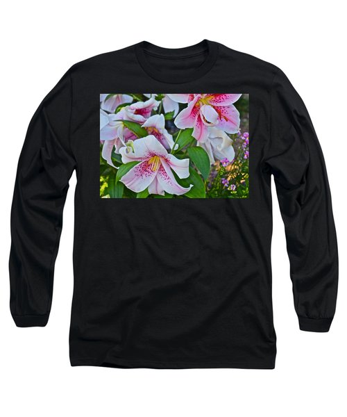 Early August Tumble Of Lilies Long Sleeve T-Shirt