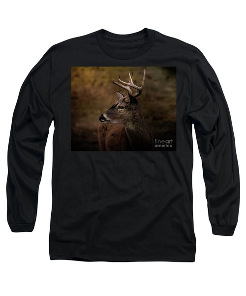 Early Buck Long Sleeve T-Shirt by Robert Frederick