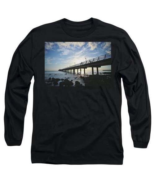 Early Morning At The Pier Long Sleeve T-Shirt