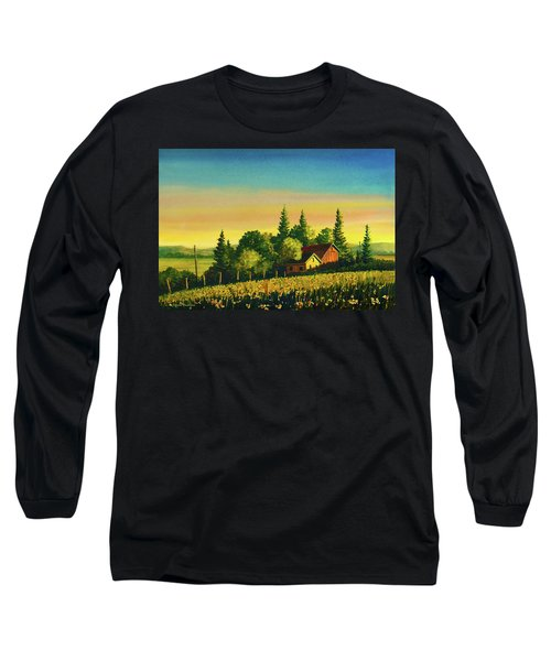 Early Morning Farmhouse Long Sleeve T-Shirt