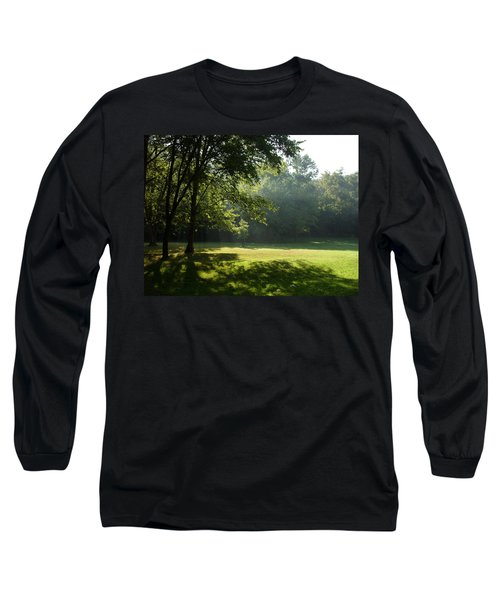 Early Morning Meadow Long Sleeve T-Shirt by Cynthia Lassiter