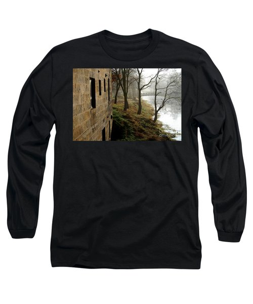 Early Morning Mist On The I  M Canal Long Sleeve T-Shirt