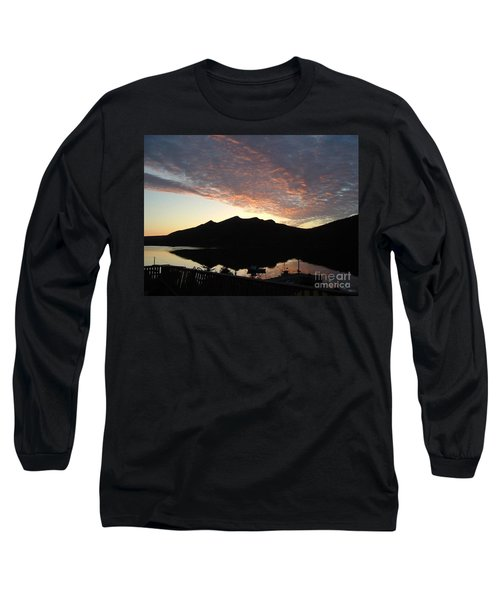 Early Morning Red Sky Long Sleeve T-Shirt by Barbara Griffin