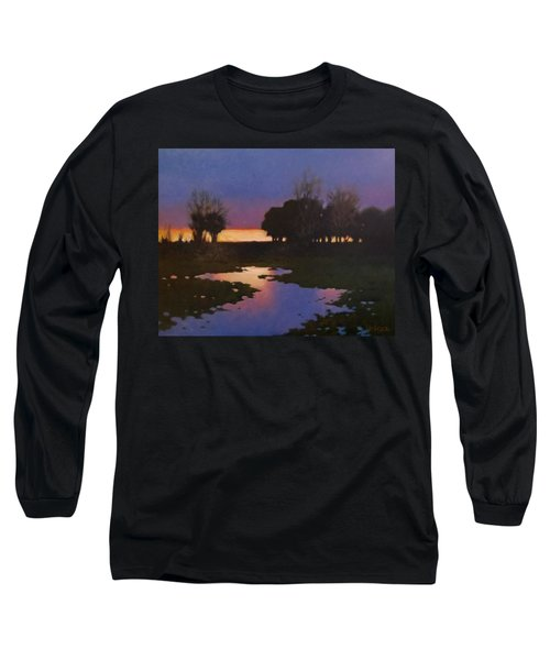 Early Morning Rice Fields Long Sleeve T-Shirt