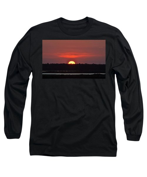 Long Sleeve T-Shirt featuring the photograph Ease Into Night... by John Glass