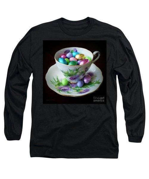 Easter Teacup Long Sleeve T-Shirt by Robert ONeil
