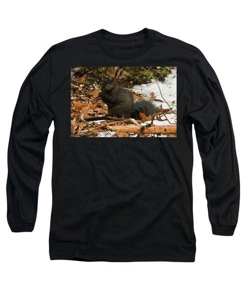 Eastern Gray Squirrel Black Morph Long Sleeve T-Shirt