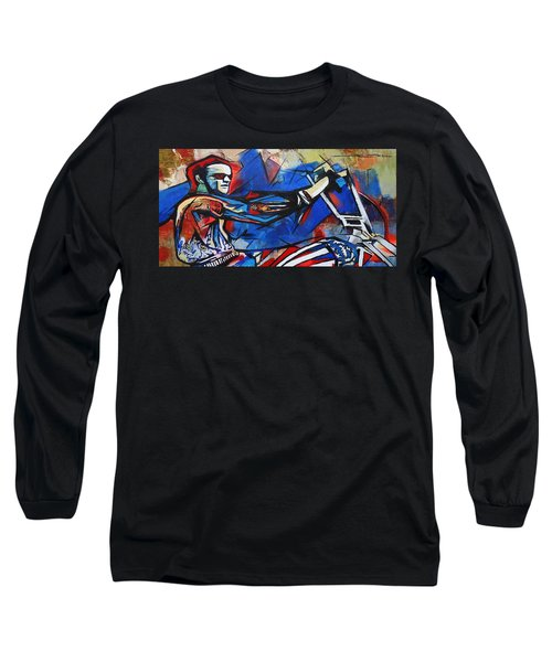 Easy Rider Captain America Long Sleeve T-Shirt by Eric Dee