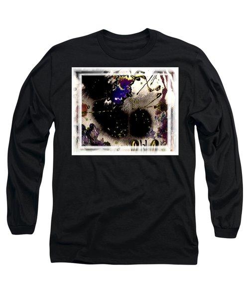 Ebony Nights Long Sleeve T-Shirt by Angela L Walker