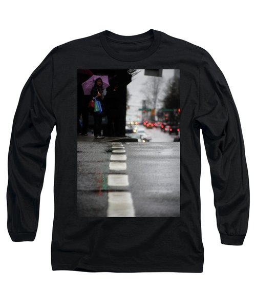 Echoes In The Rain Drops  Long Sleeve T-Shirt by Empty Wall