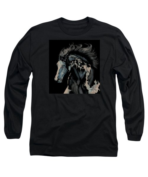 Eclipse's Full Moon Long Sleeve T-Shirt by Cheryl Poland