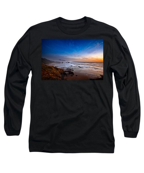 Ecola State Park At Sunset Long Sleeve T-Shirt